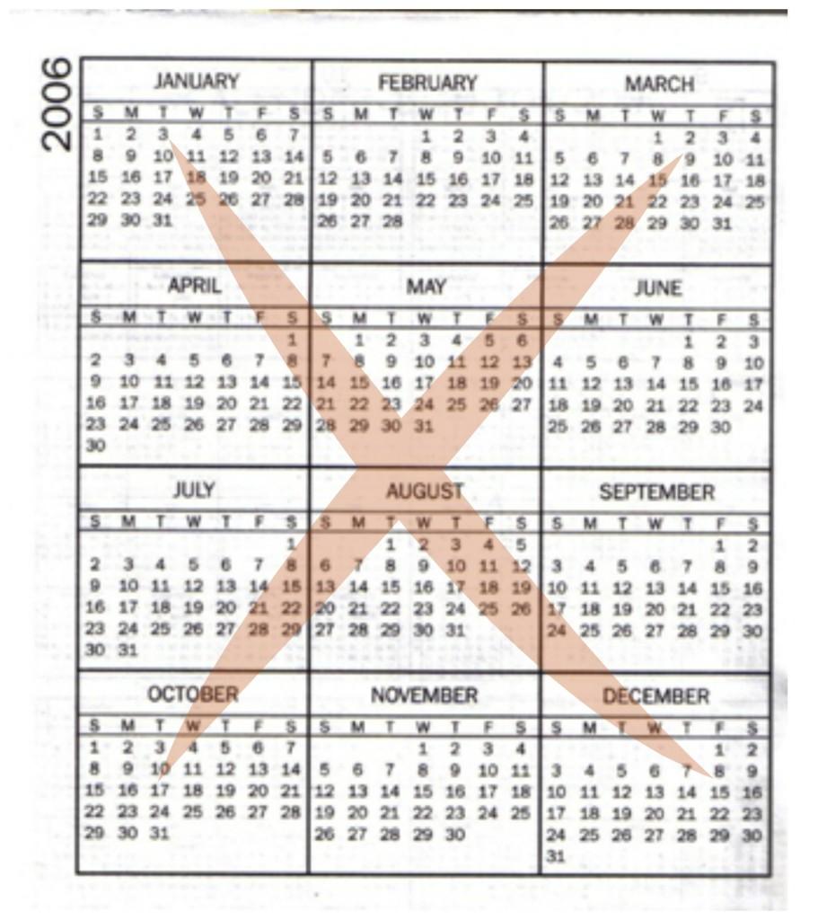 '06 calendar