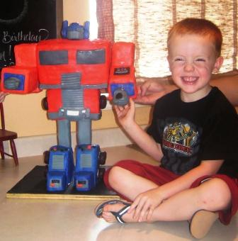 Coolest Optimus Prime Birthday Cakes