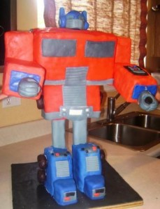 Optimus Prime Cake 2008