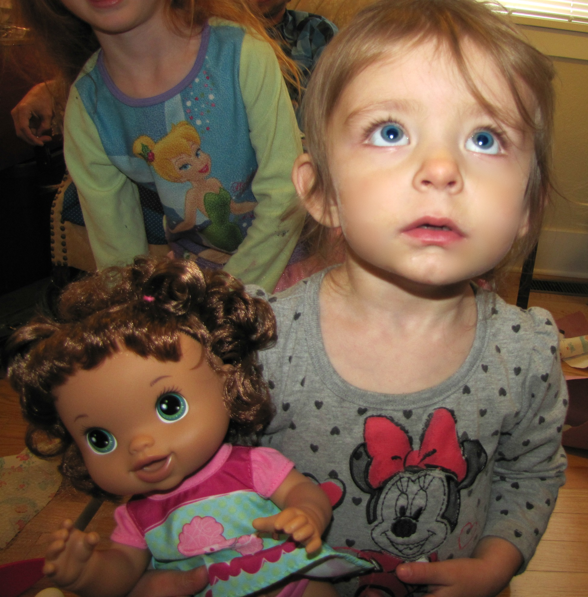 amelie and her doll baby