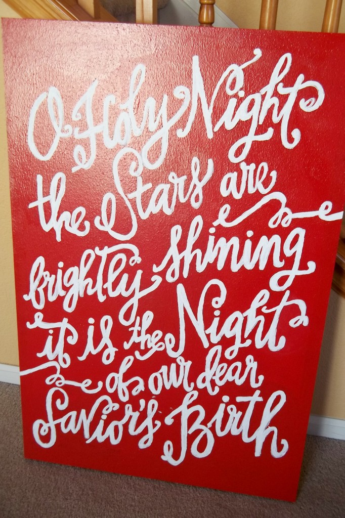 diy oh holy night print