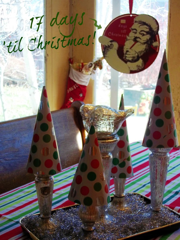 paper cone trees over candlesticks