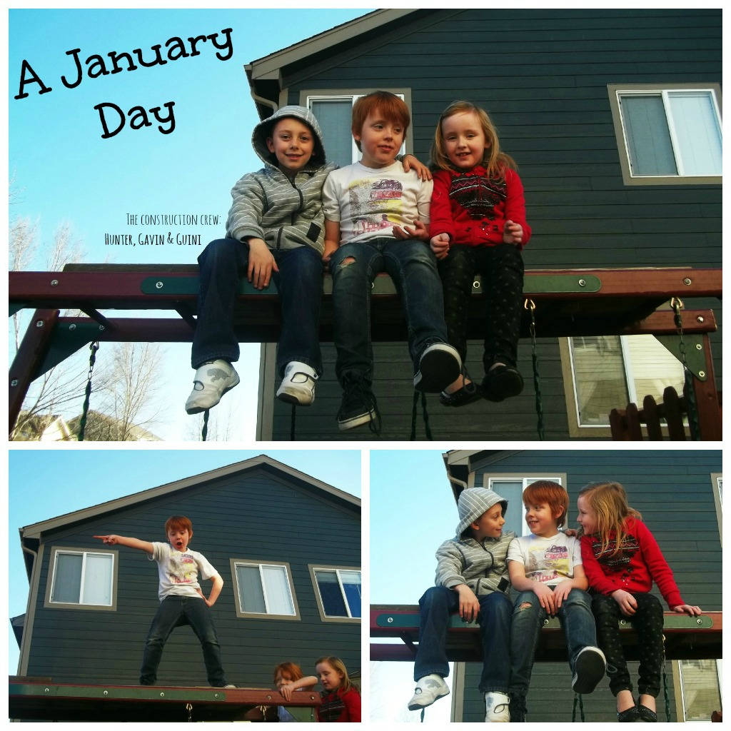 the kids on a january day