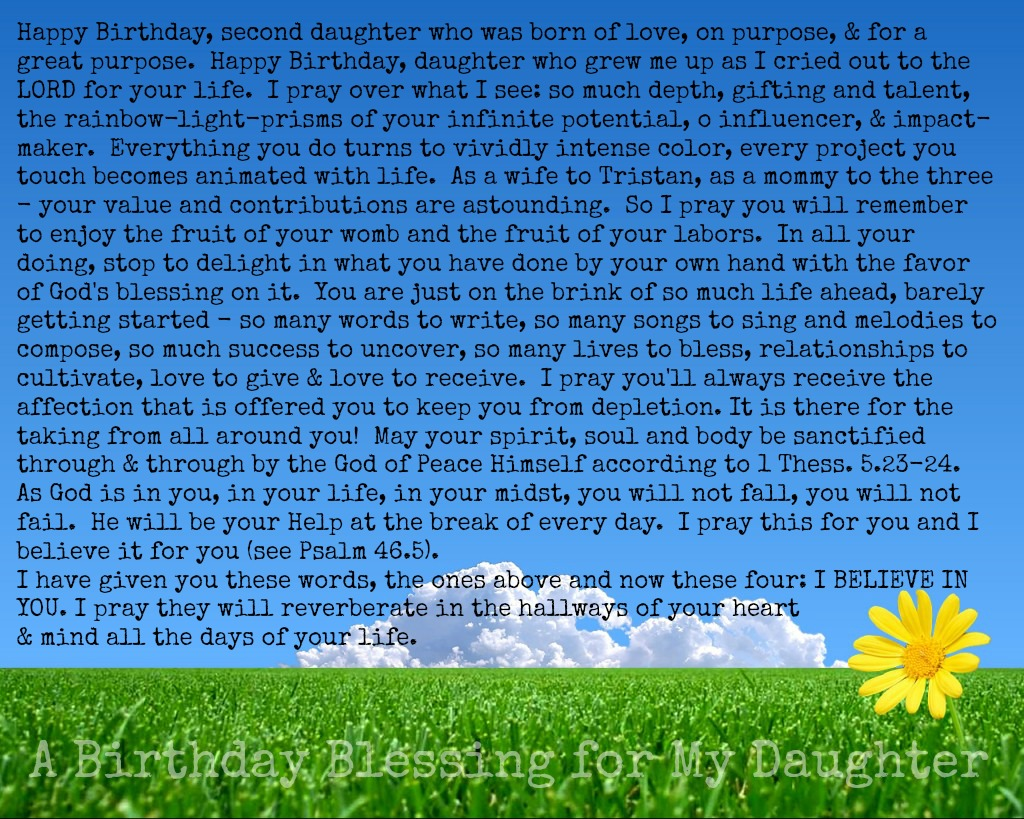 a birthday blessing for my daughter