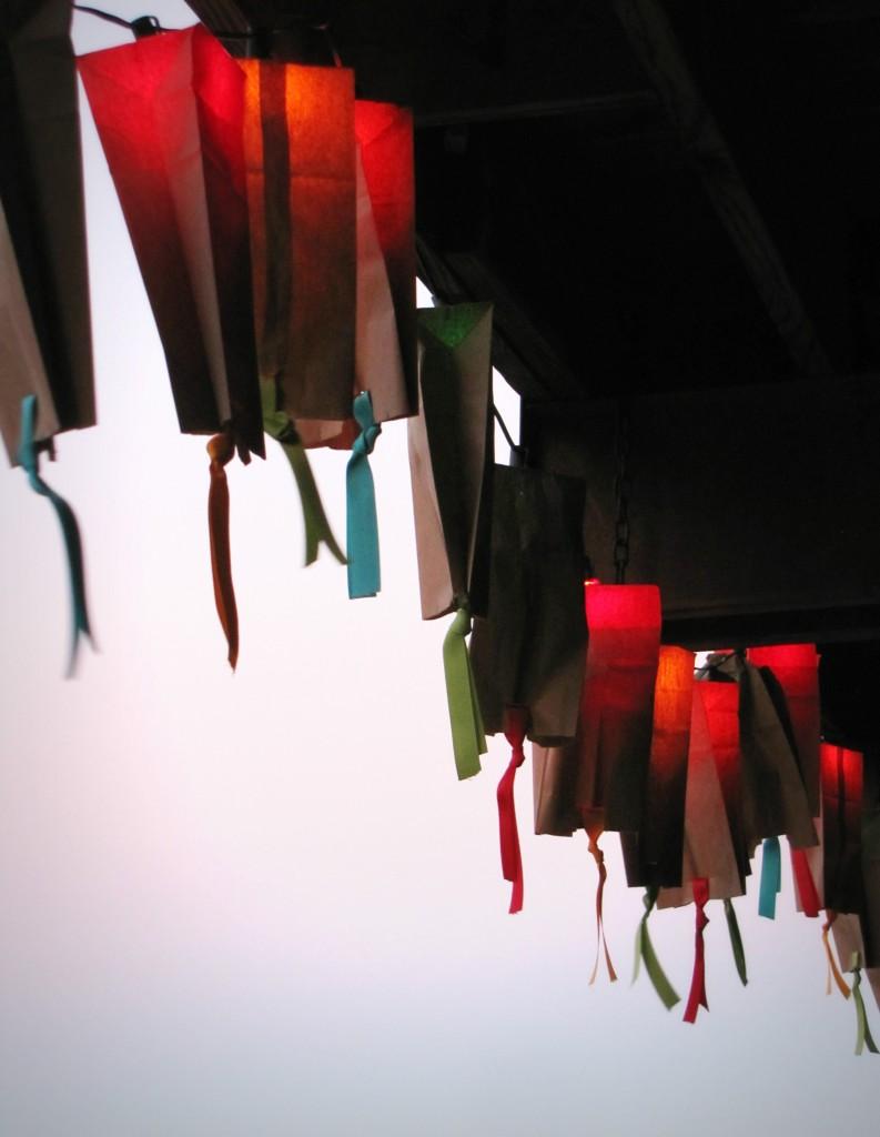 paper-bag lanterns