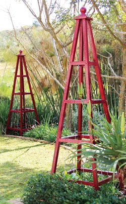 garden's glory - pyramid obelisk for the garden how to plans
