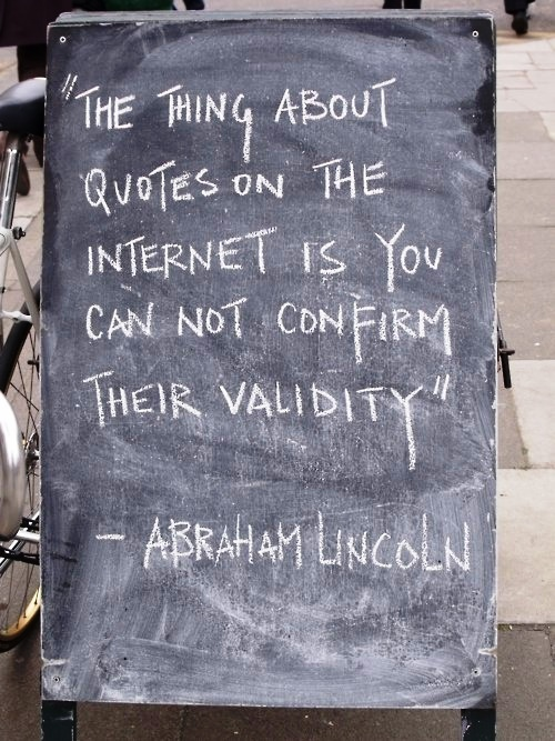 internet quotes abraham lincoln