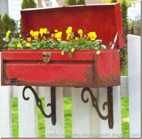 toolbox planter funky junk curbshopaholic