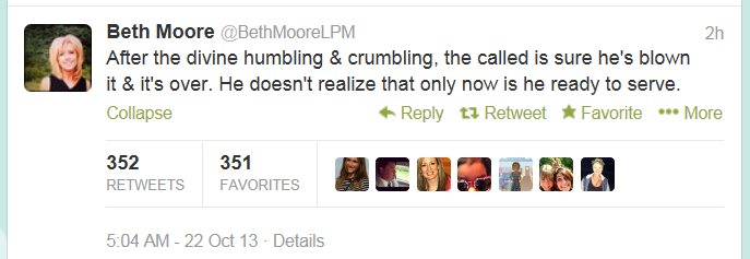 beth moore tweet humbled serve