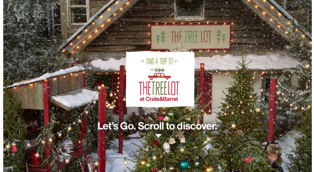 crate and barrel the tree lot
