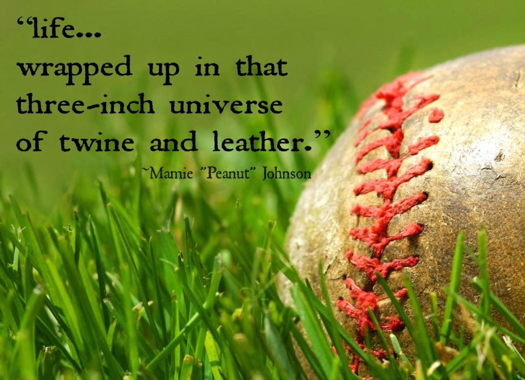old baseball and quote