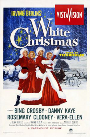 irving berlins white christmas poster