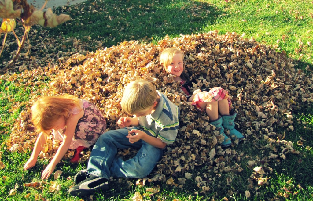 kids in leaves 1