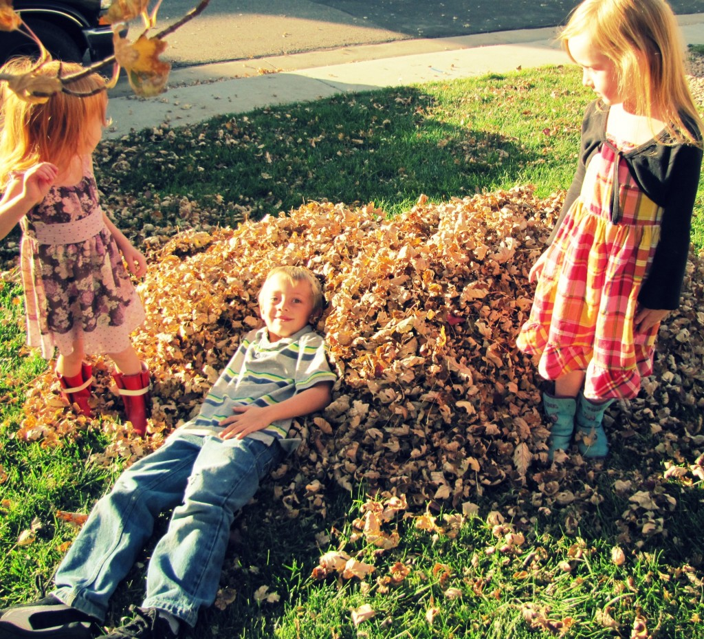 kids in leaves 2