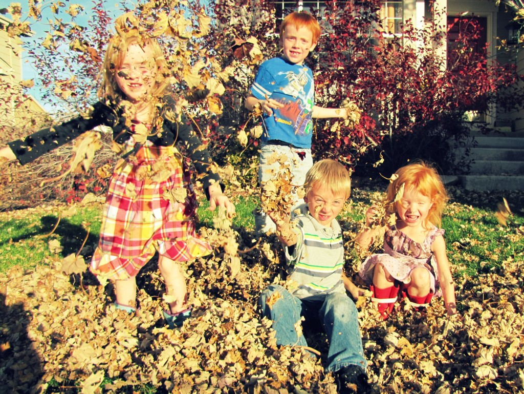 kids in leaves 3