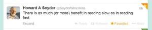 howard snyder tweet