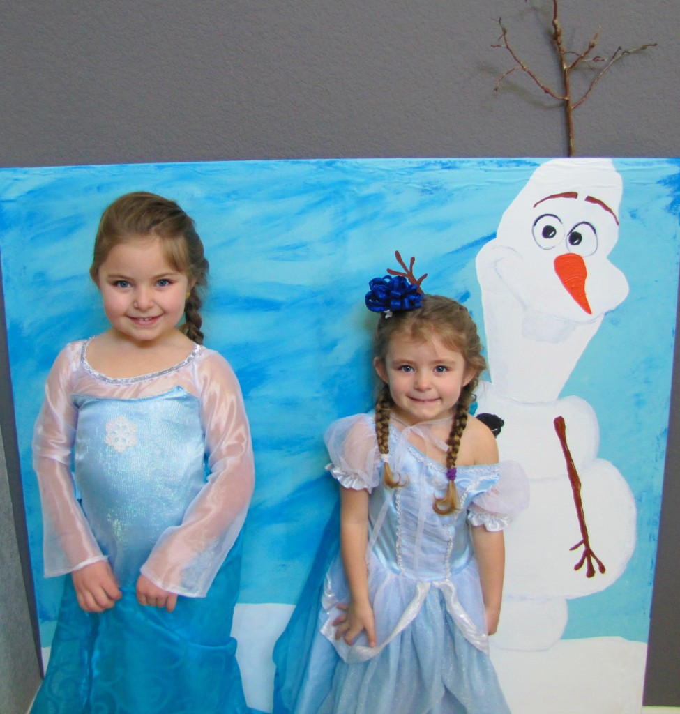 olaf and the girls