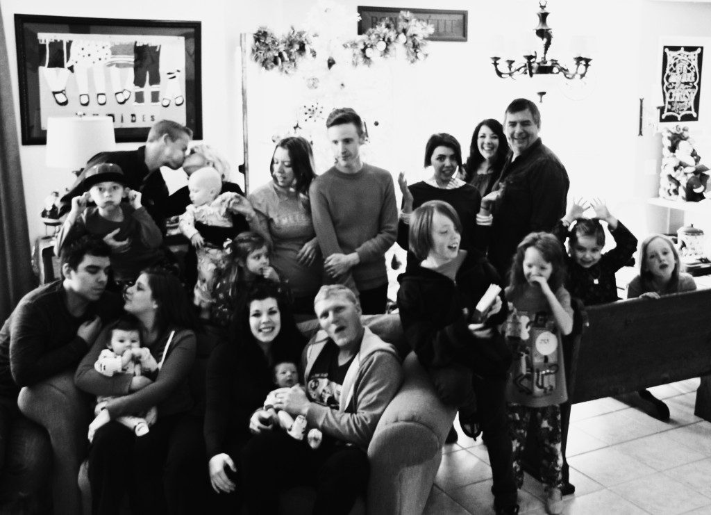 rhoades family at christmas