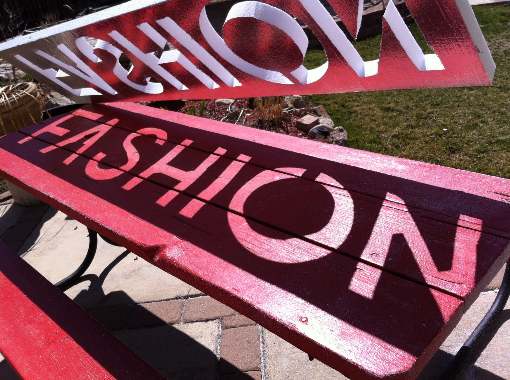 fashion sign from foam