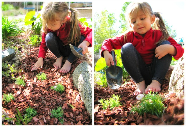 amelie in the garden