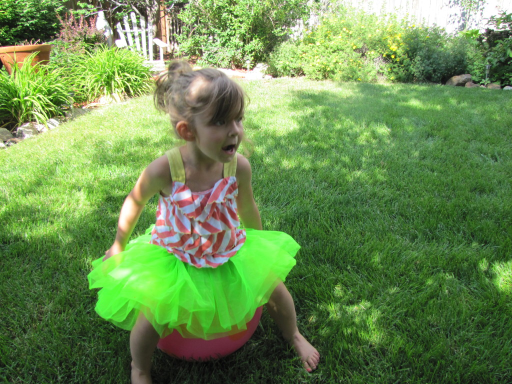 amelie in her neon skirt