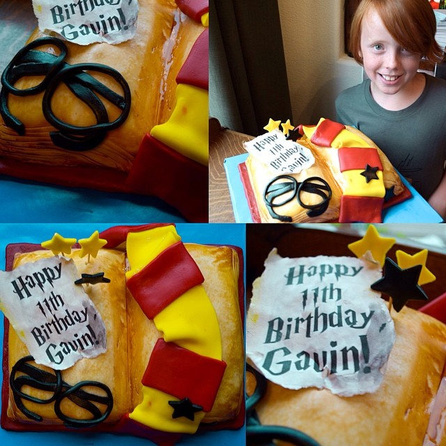 gav his harry potter birthday cake