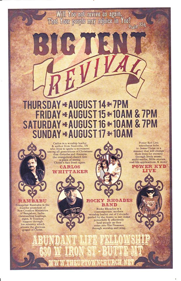 rocky rhoades big tent revival