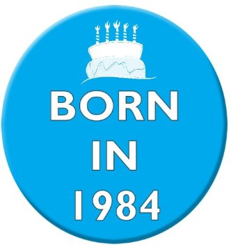 born in 1984 amazon pin