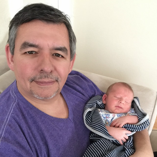 Dave and his newest grandson