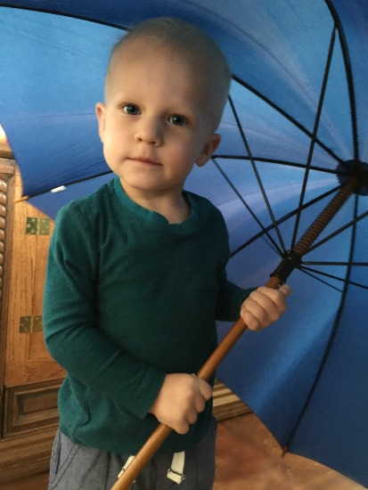 Kai and his umbrella