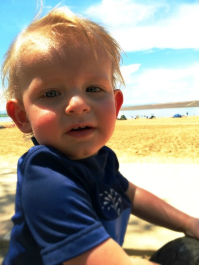 Oliver at the beach