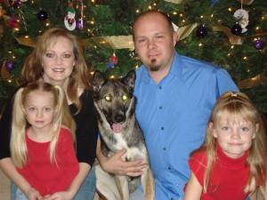 Heather and family at Christmas