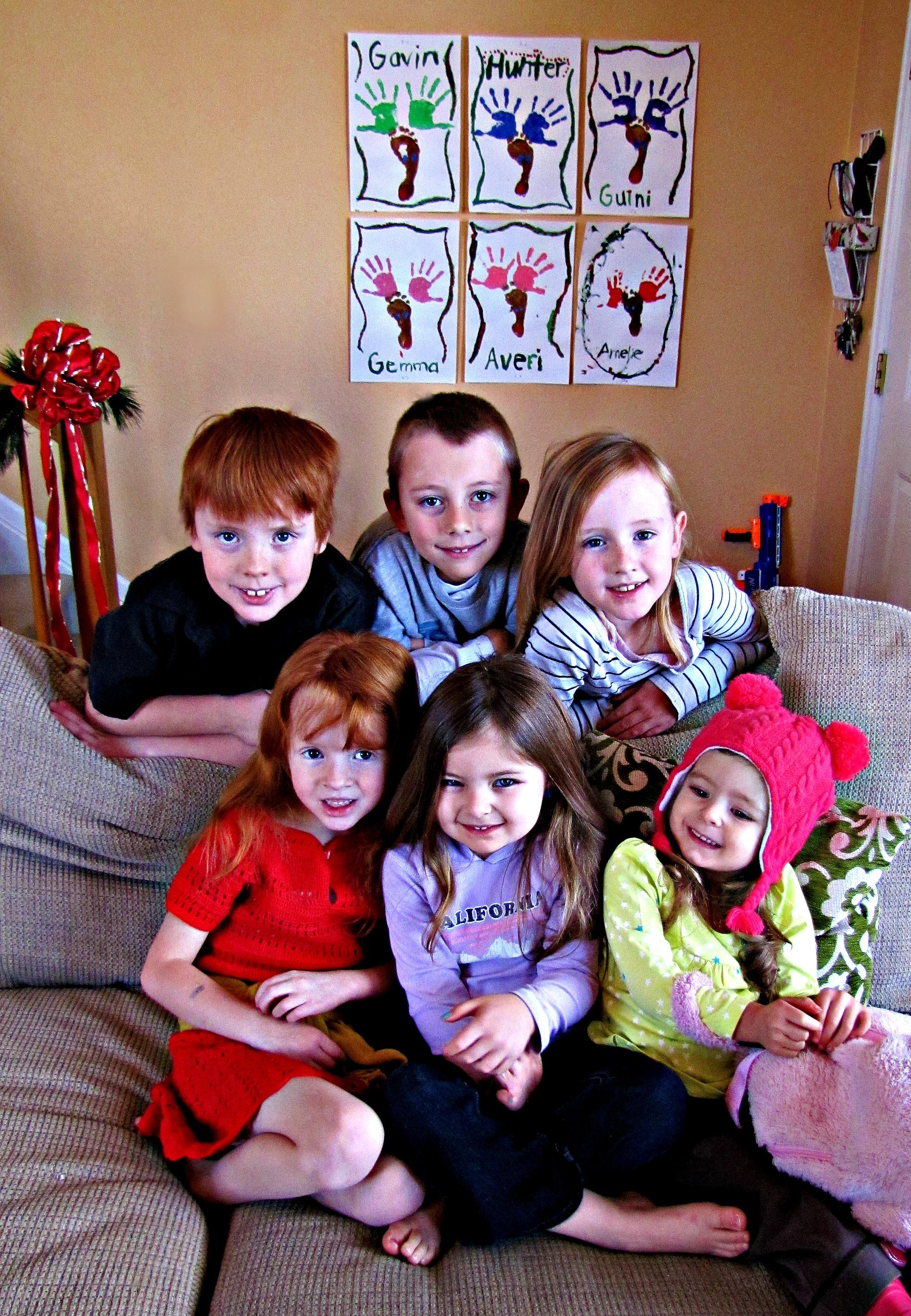 grandkids at christmas
