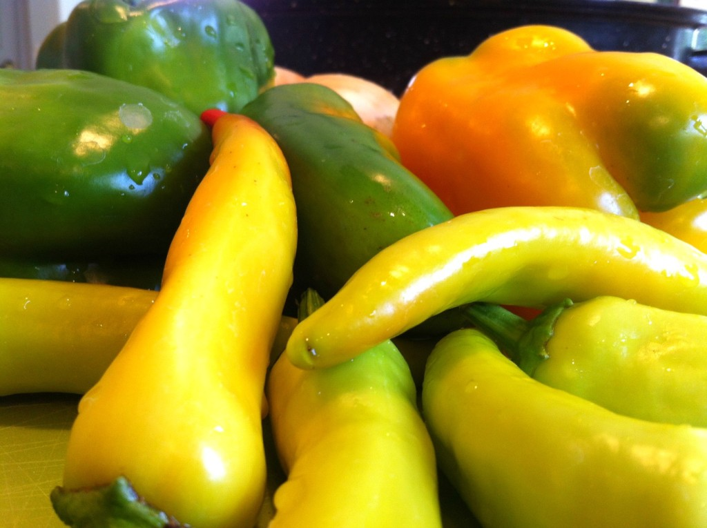 harvest peppers