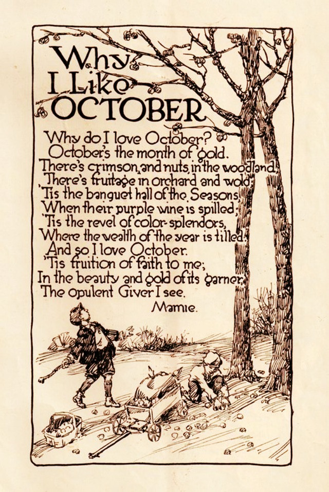 why i like october