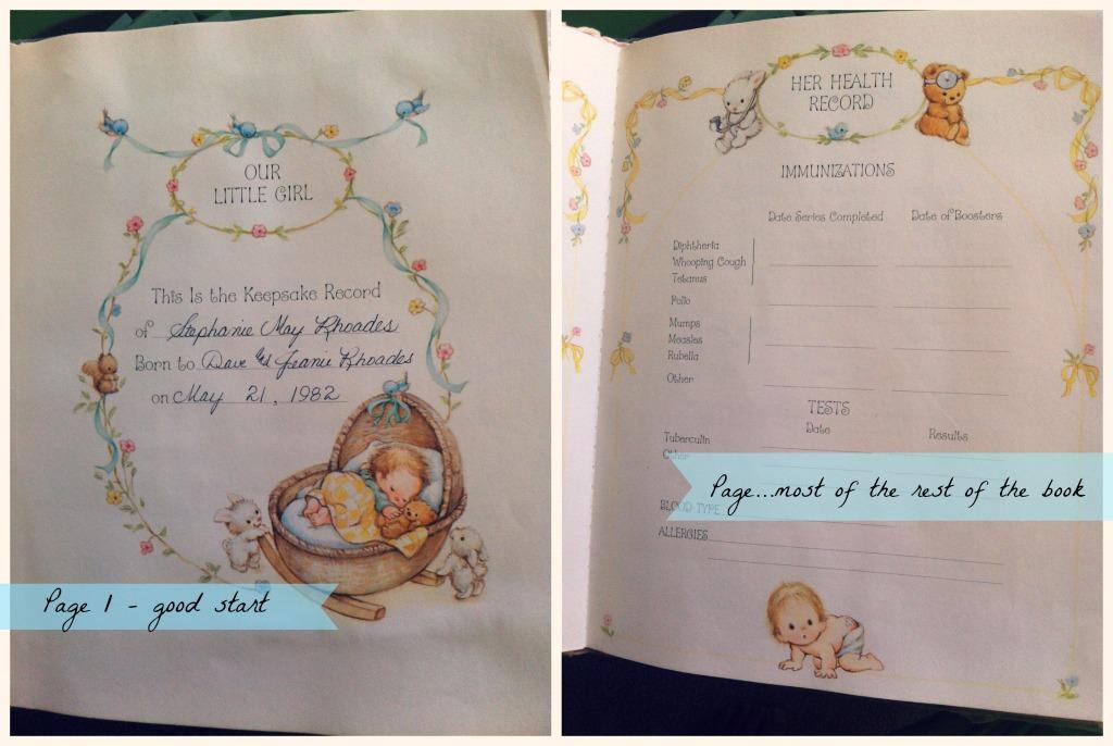 Stephanie Baby Book