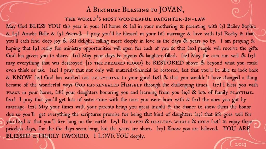 jovan blessing