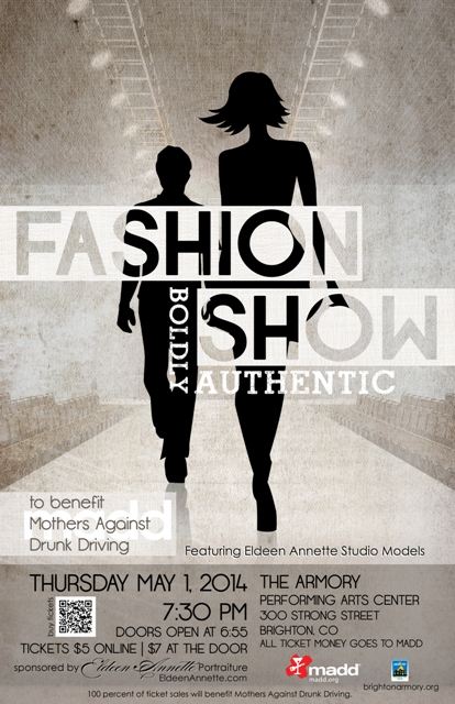 Boldly Authentic Fashion Show poster