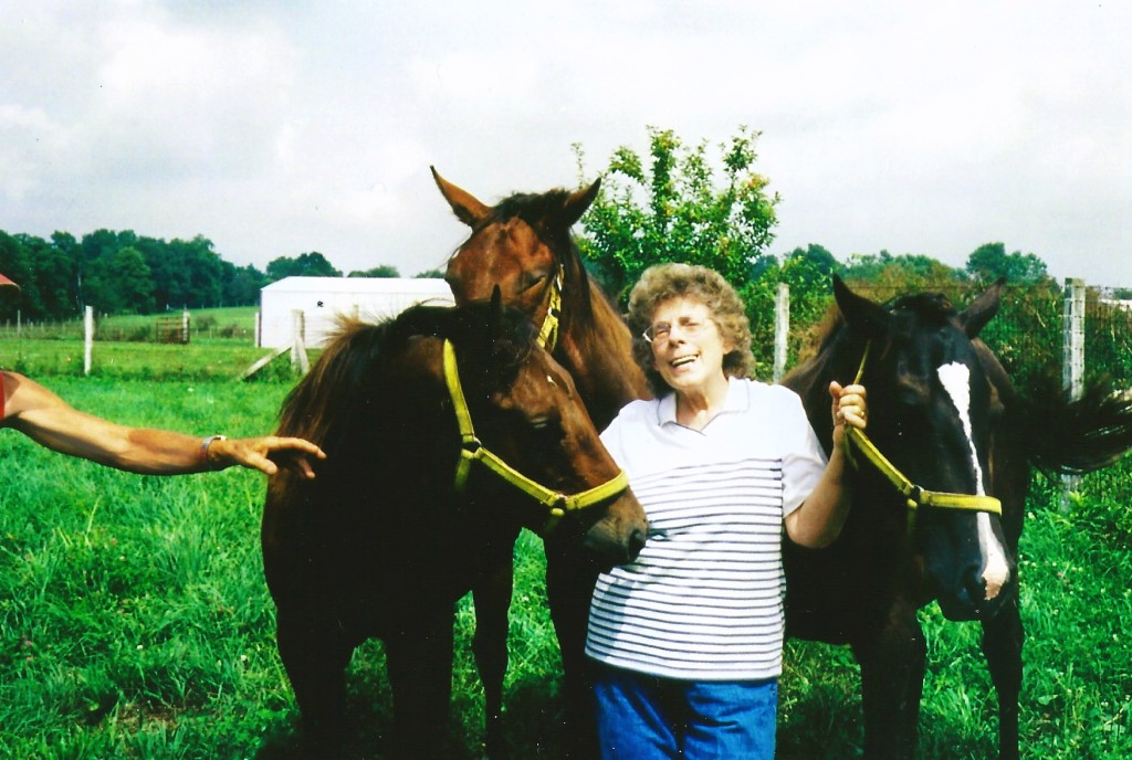 mom and her horses