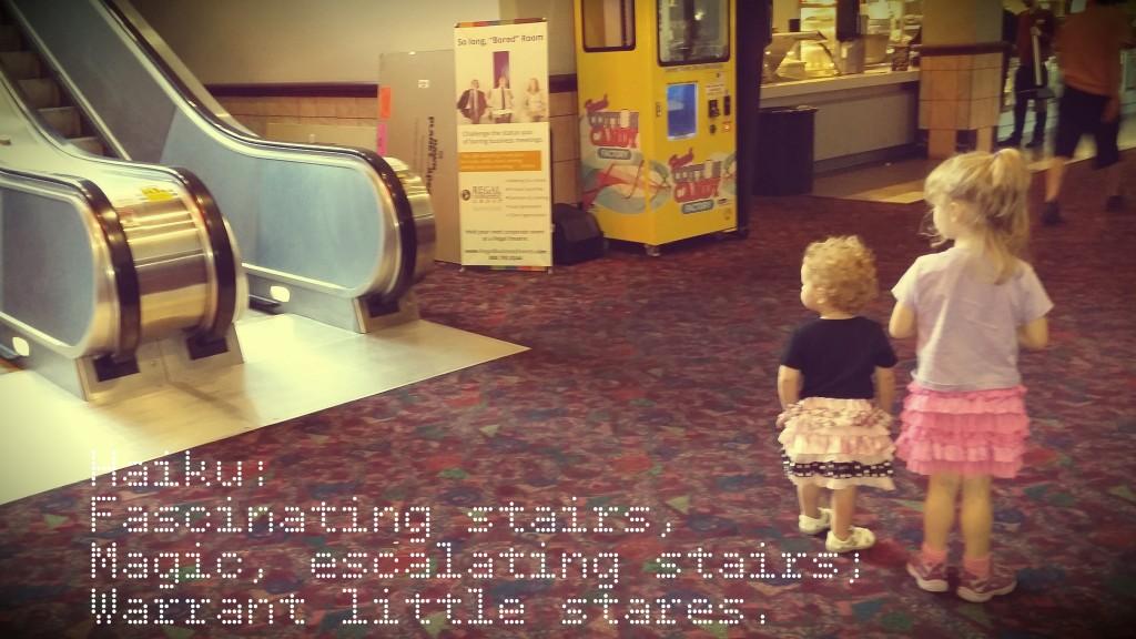 haiku amy jo becker escalator