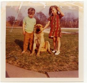 Red the dog with Danny & Tami