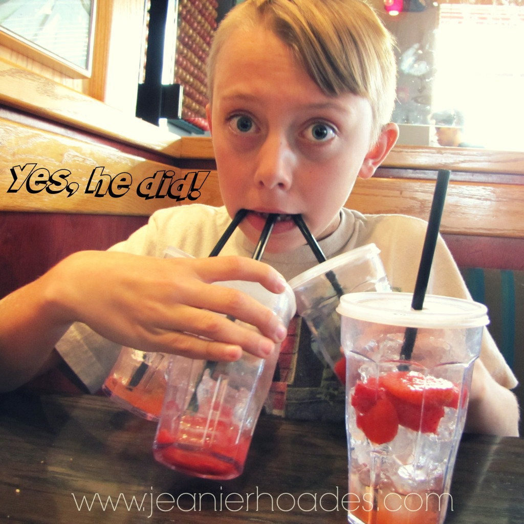 #thesearethemoments Hunter and 4 freckled-lemonades