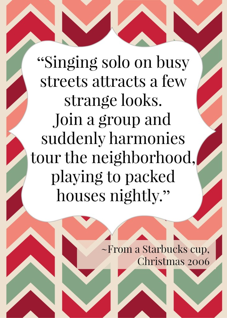 singing solo...joining a group #quote