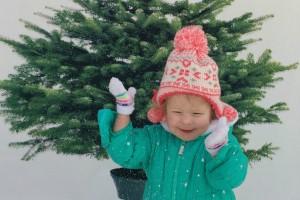 eva in snow