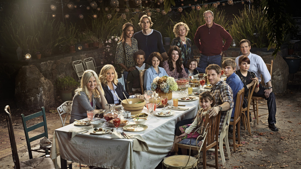 PARENTHOOD -- Season: 2 -- Pictured: (l-r) Monica Potter as Kristina Braverman, Erika Christensen as Julia Braverman-Graham, Joy Bryant as Jasmine Trussell, Tyree Brown as Jabbar Trussell, Dax Shepard as Crosby Braverman, Sarah Ramos as Haddie Braverman, Lauren Graham as Sarah Braverman, Bonnie Bedelia as Camille Braverman, Max Burkholder as Max Braverman, Craig T. Nelson as Zeek Braverman, Peter Krause as Adam Braverman, Mae Whitman as Amber Holt, Miles Heizer as Drew Holt, Sam Jaeger as Joel Graham, Savannah Paige Rae as Sydney Graham -- Photo by: Florian Schneider/NBC